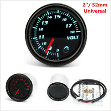 2'' 52mm Universal Car Auto Voltmeter 7 Color LED Volt Voltage Gauge Meter 12V