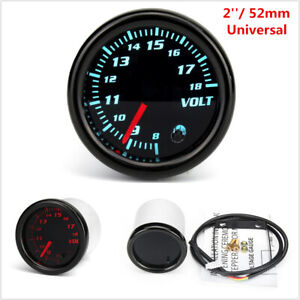 2'' 52mm Universal Car Auto Voltmeter 7 Color LED Volt Voltage Gauge Meter 12V