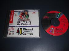 COMPTON'S INTERACTIVE ENCYCLOPEDIA W/40 BEST GAMES PC CD-ROM  WINDOWS 95 1996