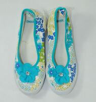 Gymboree Sea Splash Big Girl Size 2 Youth Girls Wedge Tennis Shoes Read