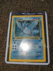 Pokemon Card Holo 1st Edition Articuno 2/62 Fossil Set