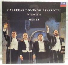 CARRERAS DOMINGO PAVAROTTI - vintage vinyl LP in concert - booklet with words