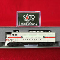 Kato N Scale 176-1313 F3 A Chicago, Burlington & Quincy CBQ NIB