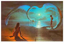 "STEVEN PEARSON ""Wings of Love"" SWAN nude romance PRINT! SIZE:60cm x 90cm NEW"
