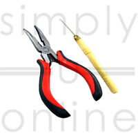 Micro Ring Hair Extension Pliers & Pulling Hook Tool
