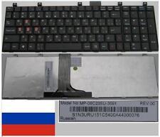 Clavier Qwerty Russe MSI MS1683 MS-1683 CR600 MP-08C23SU-3591 S1N3URU151 Noir