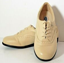 New Dr Scholl's Women's Leather Lace Up Oxfords 8 Wide Tan