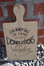 """Holzschild """"Gib jedem Tag... Holzbrett Schild mit Schrift Dekobrett Spruchschild"""