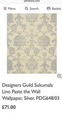 Designers Guild Sukumala Lino Wallpaper, Silver PDG648/03 RRP £71