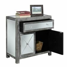 Convenience Concepts Gold Coast Mirrored Cabinet in Weathered Gray