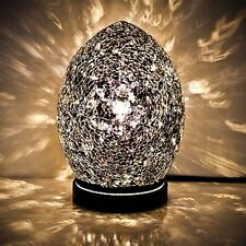 Fabulous Mini Mosaic Glass Crackle Black Egg Table Lamp ,Desk ,Bedside