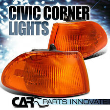 Fit 92-95 Honda Civic 4Dr EG JDM Amber Corner Turn Signal Lights