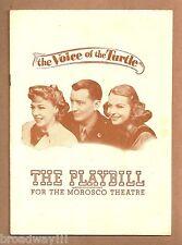 "Betty Field ""VOICE OF THE TURTLE"" Elliott Nugent / Audrey Christie 1945 Playbill"