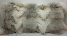Real Genuine Fawn Light Fox Sections  Fur Pillow new  usa made  fur cushion