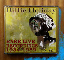 Billie Holiday , Rare Live Recordings 1934 - 1959 ( Box 5 CD, U.S.A. )