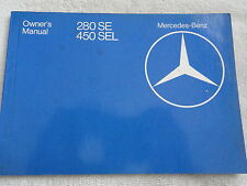 1980 Mercedes 280 SE & 450 SEL Owners Manual 280SE
