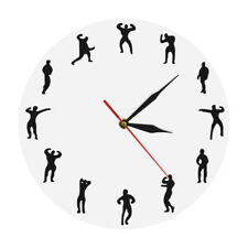 Gymnasium Wall Clock Fitness Sport Time Clock Gym Lose Weight Bodybuilder Gift