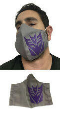 Transformers Decepticon Logo Handmade Cotton Fabric Face Mask with FILTER POCKET