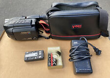 """Used Jvc Compact Vhs Camcorder Pro-cision 5 Head System 3"""" Lcd Color Monitor"""