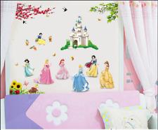 Princess Castle WALL STICKER Princess Nursery Wall Decal Kids Girl Room UK