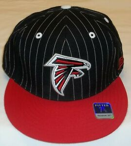 Reebok Atlanta Falcons Pinstriped Fitted Hat - Adult Size 7 7/8 - New