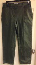 Christopher & Banks, green comfort waist pants, women's petite size 14P, NWT