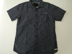 Mossimo Mens Checked  Short Sleeve Shirt - size Small , great condition!!