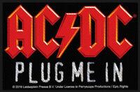 AC/DC PATCH / AUFNÄHER # 70 PLUG ME IN - 10x7cm