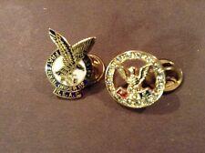 Lapel Pins F O E R.E.A.C. And Round Rhinestone Ring