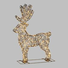 Renna Natale Luminosa in 3D ,260 microled bianco caldo h90cm anche x esterno