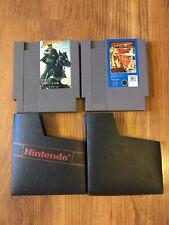 Nintendo NES Indiana Jones The Last Crusade Taito + Temple Of Doom Authentic