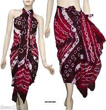 100% Cotton Tie & Dye Beach Scarf Sarong Pareo Wrap CoverUp Bikini Swimwear 4509
