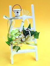 1 Stk. Dekofigur, Holz- Deko-Leiter weiß / grün, sehr dekorativ