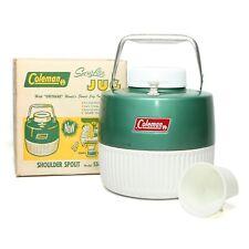 Coleman Vintage Water Jug 5506D GREEN Camping/Outdoor Cooler inc. Original Box