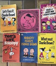 Lot Of 6  Peanuts Paperback Books Charlie Brown Charles M. Schulz 1960's-1970's