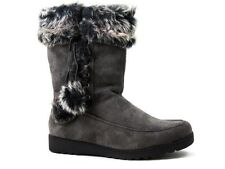 White Mountain Women's Cold Weather Charcoal Suede Boots Size 8 M