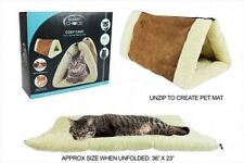 COSY CAVE 2 IN 1 TUNNEL CAT PET BED