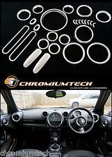 2013-2016 Facelift MINI R60 Countryman Satin Chrome Interior Dial Dash Trim Kit