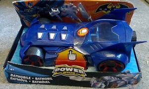 BATMAN POWER ATTACK BATMOBILE COMPLETE WITH ACCESSORIES, FACTORY PACKED