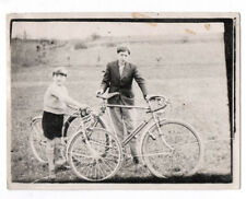 PHOTO ANCIENNE Vélo de course Bicyclette Bike Enfant Adolescent 1930 Promenade