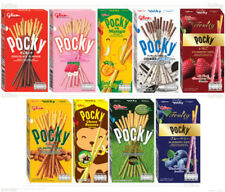 Glico Pocky Japanese Biscuit Stick Coated 9 Flavour lot. Chocolate Almond Etc.