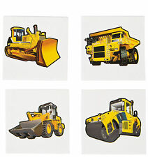 72 Construction Zone TATTOOS temporary Bulldozer kids birthday party favors