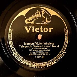 Marconi-Victor Wireless Telegraph Lessons - Scarce 1918 Victor 6-record Set