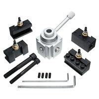 7x Quick Change Tool Post Holder Mount Aluminum Alloy Kit For Table/Hobby Lathe