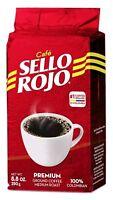 Cafe Sello Rojo 100% Colombian Coffee 8.8 oz PREMIUM Ground Coffee Medium Roast
