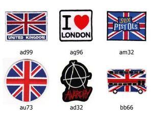 Set #006 Sew-On 6 Piece UK Great Britain Union Jack Flag London Iron-On