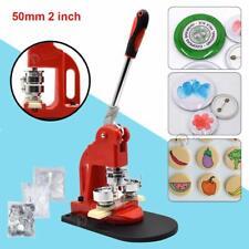 50mm Button Maker Badge Machine w/ 300 Sets Circle Button Pin Parts Punch Press