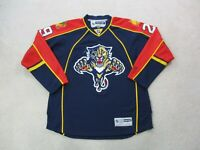 Reebok Florida Panthers Hockey Jersey Adult Extra Large Blue Red SEWN Mens *