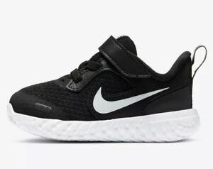 Nike Revolution 5 Black White bq5673-003 Toddler Running Shoes Sneakers Size 7C