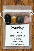 Moving Home Crystal Gift Set Labradorite Rose Quartz Obsidian Citrine New Home